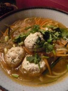 soupe aux boulettes de poulet